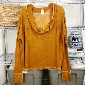 Free People Tops - FREE PEOPLE | oversized mustard thermal top L